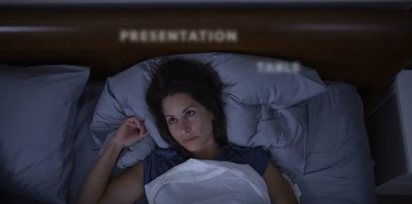 woman who can't sleep with racing thoughts