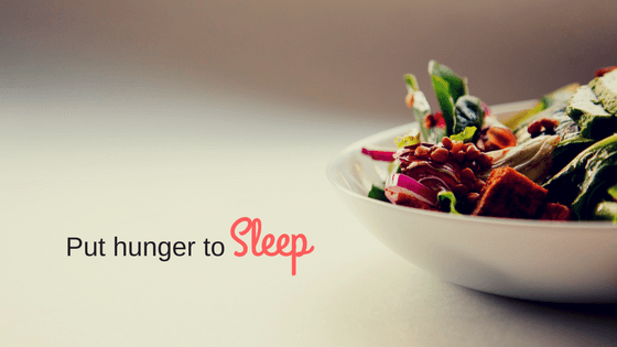 Put Hunger to sleep bowl of food